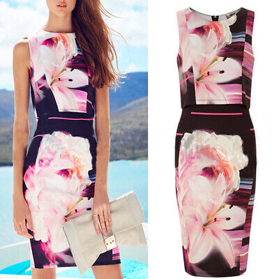Women Work Office Bodycon Dress Ladies Evening Party Short Mini Dresses • 0.01£