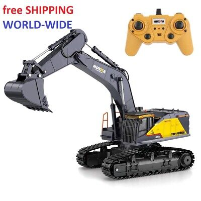 Toys For Boys Remote Control Excavator RC Bulldozer Tractor Truck Metal Digger • 108.03£