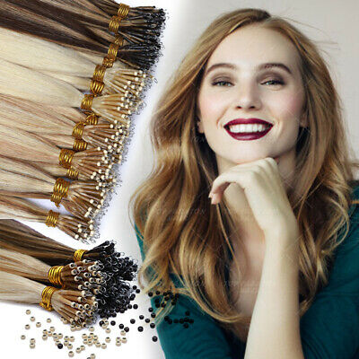 THICK Nano Ring Russian 100% Human Remy Loop Micro Ring Beads Hair Extensions G3 • 34.91£