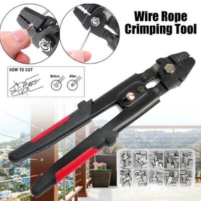 AU25.99 • Buy Wire Rope Swager Crimpers Stainless Steel Fishing Pliers With Crimp Sleeves Kit