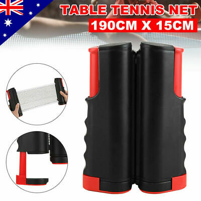 AU9.99 • Buy Table Tennis Kit Ping Pong Retractable Net Rack Portable Sports Indoor Games DA
