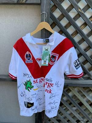 AU225 • Buy St.george Dragons Nrl Rugby League Football Signed Team Sports Jersey Shirt