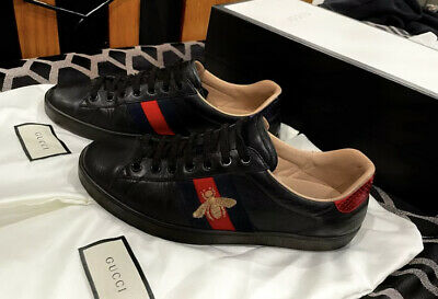 AU300 • Buy Authentic GUCCI Ace Embroidered Mens Sneaker Excellent Condition RRP $915 US 8.5