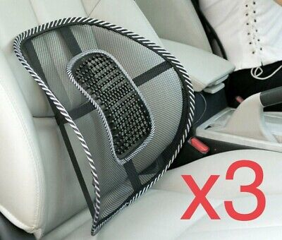 AU18 • Buy 3x Mesh Lumbar Back Support Posture Corrector Office Chair Car Seat Home Cushion