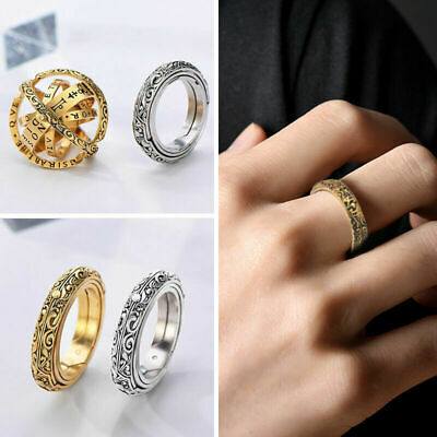 £5.69 • Buy Astronomical Sphere Ball Ring Finger Ring Couple Lover Jewelry Gift Vintage -c