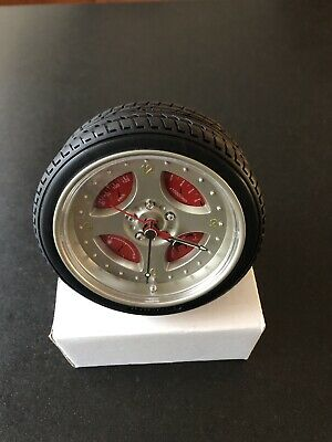Motorsport Alarm Clock- Very Cool 4 Spoke Alloy Wheel With Tyre. • 12.30£