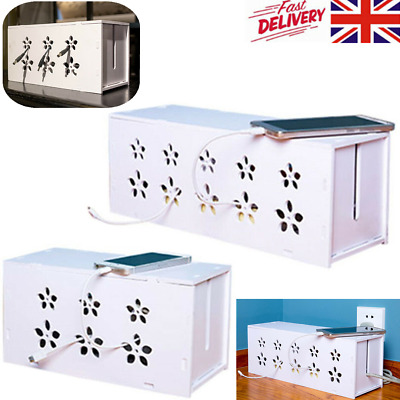 Wire Cable Management Storage Box Power Strip Cord Outlet Tidy Safety Organizer • 10.30£