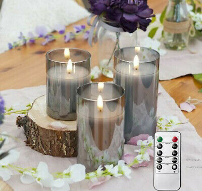 £9.99 • Buy  Authentic Flame Battery Flickering LED Candle Lights Glass Jar Wax | Indoor UK