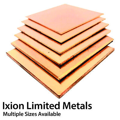 £43.50 • Buy Copper Sheet Plate - 0.9mm To 6.0mm - Multiple Sizes CW024A C106