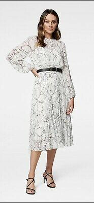 AU99.99 • Buy FOREVER NEW PRINTED FIONA PLEAT MIDI DRESS BN SZ 10 Wedding Party Cocktail