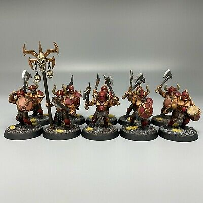 £59.99 • Buy Warriors Of Chaos Marauders With Axes Warhammer Age Of Sigmar Chaos Painted