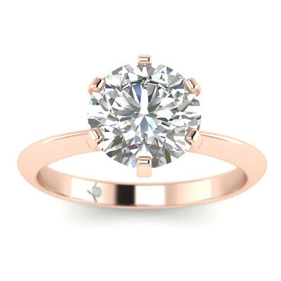 AU2130.48 • Buy 0.71ct F-VS1 Diamond Solitaire Engagement Ring 14K Rose Gold ANY SIZE