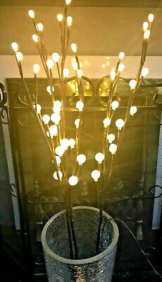 £10.99 • Buy 3 Branch Lights Plug In 48 Warm White Led Twig Willow Gardeni In-outdoor Pathway