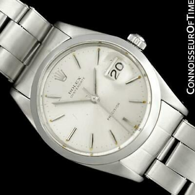 $ CDN3633.39 • Buy 1966 ROLEX Vintage Mens Oysterdate Date Watch, Silver Dial - Stainless Steel