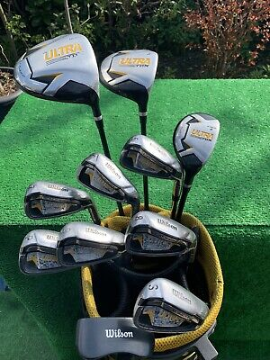 AU341.31 • Buy Men's RH Wilson Ultra TDX Launch Golf Clubs Package Irons Woods Bag