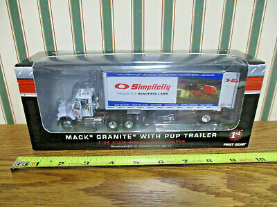 $58 • Buy Simplicity Lawn Mowers Mack Granite With Pup Trailer By First Gear 1/64th Scale