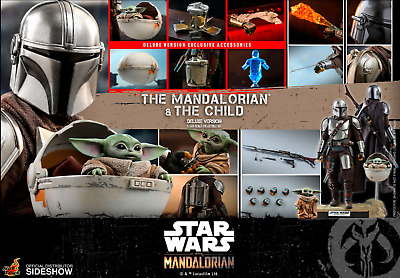 $ CDN405 • Buy Hot Toys Tms015 The Mandalorian & The Child Deluxe Set 1/6 Figure Sealed