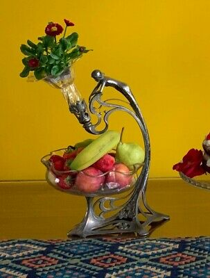 $ CDN666.85 • Buy WMF Art Nouveau Silver Plated Table Centrepiece, The Stem In The Form Of A Lady