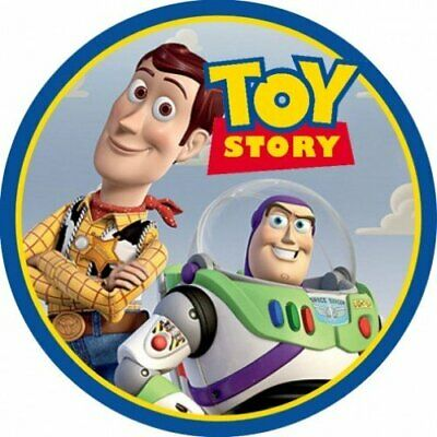 £4.35 • Buy Toy Story Buzz & Woody Edible 8  Round Cake Topper Icing Sheet