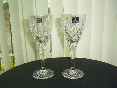 2 Royal Doulton Canterbury Lead Crystal Large Wine / Goblets  Glasses 8  • 19.99£