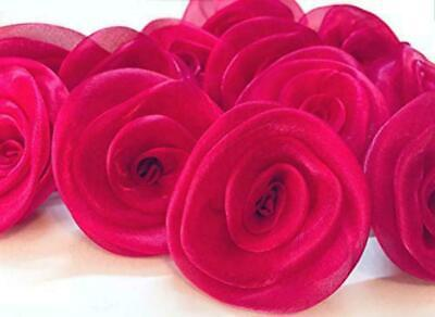 £15.77 • Buy Satin Artificial Roses Decorative Flower For Dresses,Craft & Home Decore -Pink