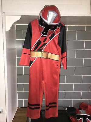 £24.95 • Buy Red Ninja Steel Power Rangers Fancy Dress Up Costume Age 3-4 Small Stains