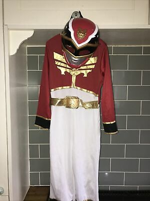 £34.95 • Buy Power Rangers Red Megaforce Fancy Dress Up Costume. Age 7-8 With Mask