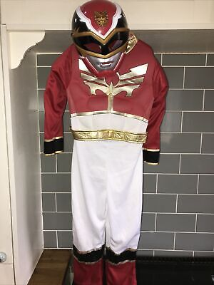 £32.95 • Buy Power Rangers Red Megaforce Fancy Dress Up Costume. Age 5-6 With Mask