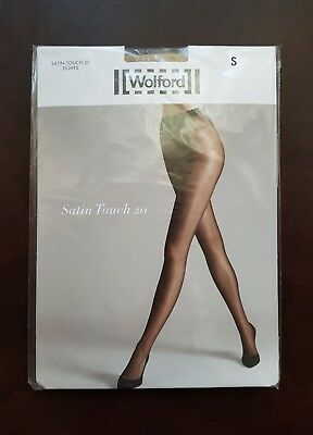 NEW Wolford Tights Satin Touch 20 Tights Size S • 15£