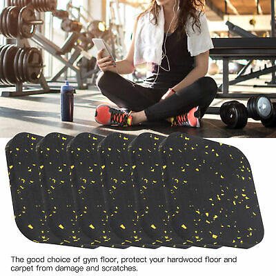 AU29.13 • Buy 6PC Rubber Treadmill Mat Sound Insulation Cushion Exercise Mat Fitness Equipment