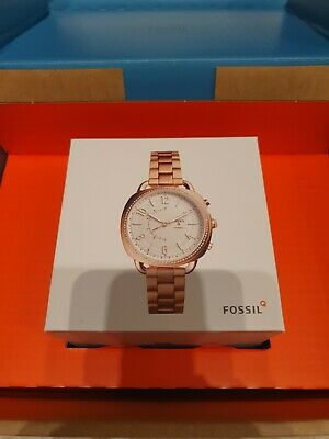 AU133.70 • Buy Fossil  Q Hybrid Smart Watch Rose Gold New In Box
