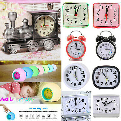 AU10.69 • Buy Mini Small Analogue Alarm Clock Battery Operated Home Desk Table Bedside Clocks