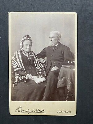 £4.50 • Buy Victorian Photo: Cabinet Card: Old Couple Holding Papers: Tissue: Sevenoaks