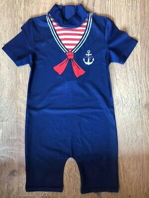 £5.99 • Buy Sailor Swimsuit All In One Boys Swimwear Brand New 1.5-2 2/3 3/4 4/5 Years
