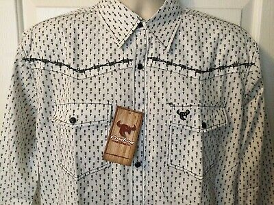 $15 • Buy COWBOY HARDWARE M Embroidered Snap Arrows L/s Shirt MSRP $49.99 NEW