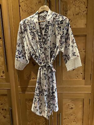 AU5.35 • Buy Satin Butterfly Print Dressing Gown , 8/10 Excellent Condition