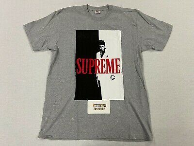 $ CDN121.32 • Buy [pre-owned] Supreme Scarface Split Tee Shirt Box Logo Photo Gray L Large T Shirt