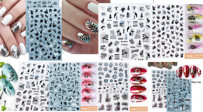 AU2.70 • Buy 3D Nail Art Stickers Luxury Manicure Decals Sexy Nail Accessories