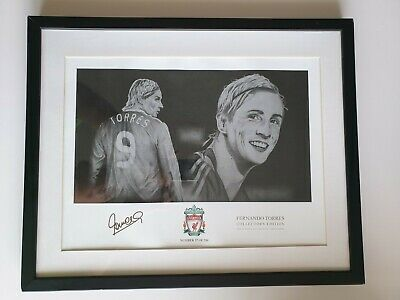 £32.95 • Buy   Rare  FERNANDO TORRES - Liverpool Signed ,Pencil Drowning Display + Autograph