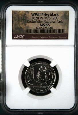 $ CDN62.29 • Buy 2020 W Marsh Billings Rockefeller NGC MS 65 - V75 WWII Privy Mark