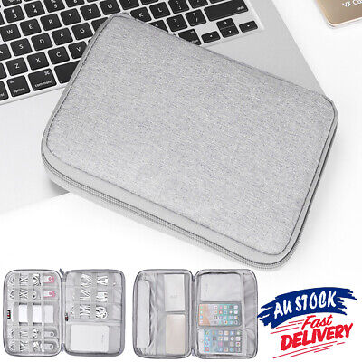AU16.99 • Buy Data  Cable Electronic Accessories Organizer Bag Travel Charger Storage Case