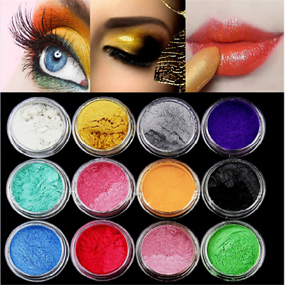£3.19 • Buy 12 Color Set Mica Pigment Powder Perfect For Soap Cosmetics Resin Colorant Dye