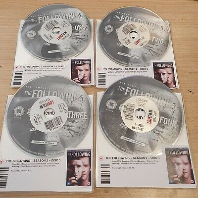 £4 • Buy DISC ONLY - The Following  SEASON 2 DVD