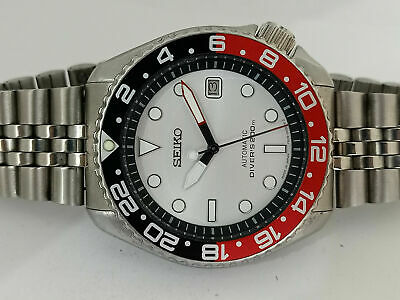 £82 • Buy Vintage White Submariner Mod Seiko Diver 7002-7001 Automatic Men's Watch 4n0642