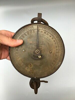 £15 • Buy Salter 40lb Antique Brass And Cast Iron Butchers Scale -Hanging - WORKING