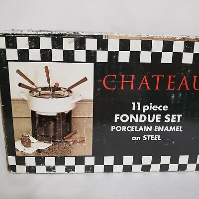 $ CDN30.10 • Buy Chateau Collection Fondue Set 11 Piece Porcelain Enamel On Steel Main Ingredient