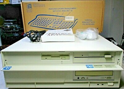 AU633.17 • Buy IBM 486 DOS 6.22 Windows 3.11 Computer 3.5 5.25 Floppy Drives CDROM 5 ISA Slots