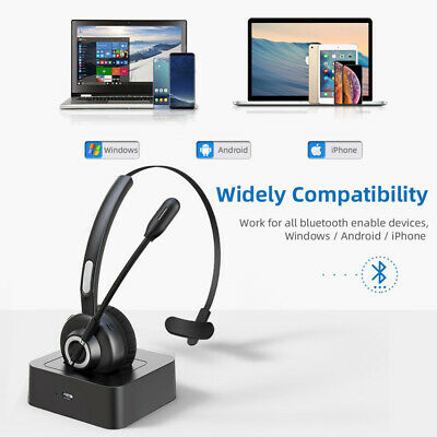 £35.39 • Buy Wireless Bluetooth Micphone Earphones Headset For Online Chatting Calling Center