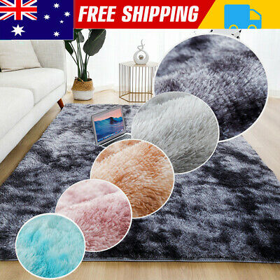 AU27 • Buy Rectangle Shaggy Carpet Bedroom Living Room Floor Pads Mat Soft Fluffy Area Rugs