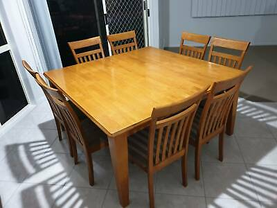 AU200 • Buy Dining Table 1500 Square - With 8 Chairs